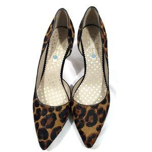 Boden Court Calf Hair Leopard Print Heels
